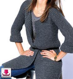 Laine Tricoter Et Tricot Veste Point Mousse Femme x0qqwBnvOI