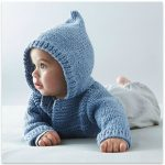 Modèle tricot poncho capuche bébé gratuit
