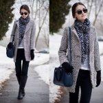 Manteau femme gris laine