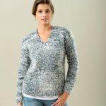 Modèle de pull femme à tricoter