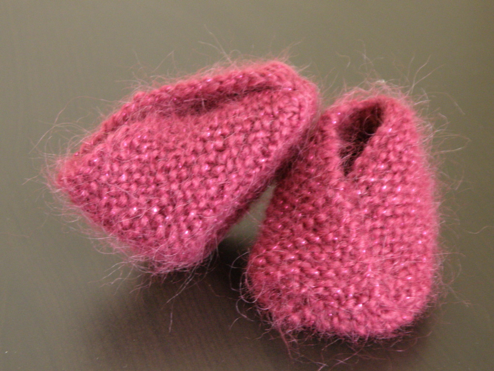 modele chaussons bebe a tricoter