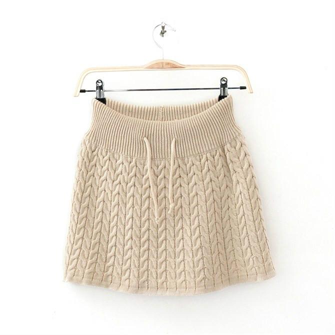 tricoter une jupe en laine femme