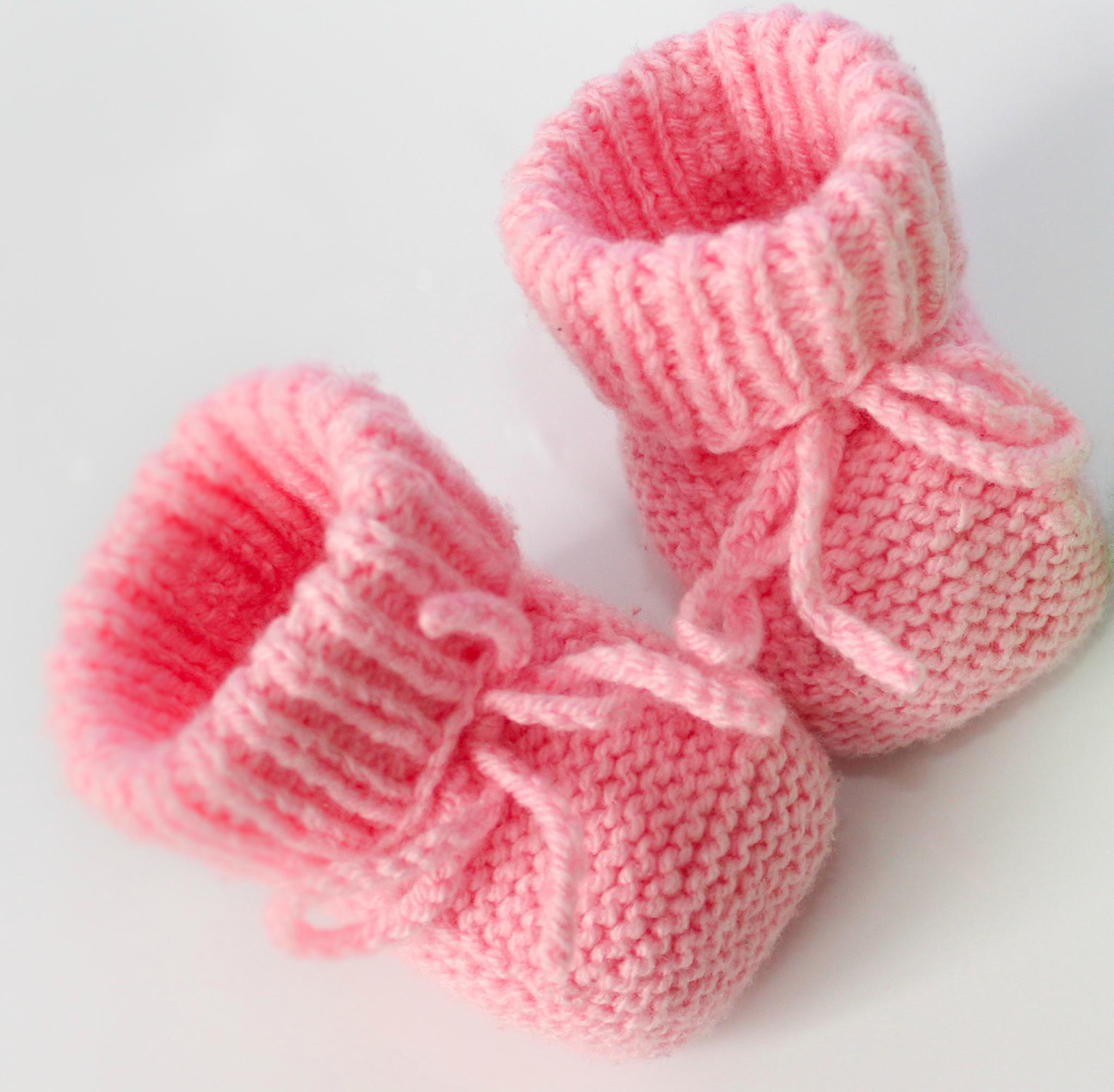 modele chausson layette tricot gratuit