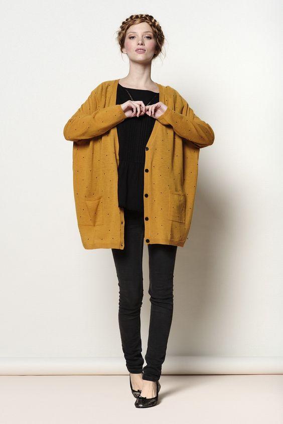 6737f0647c60 Gilet jaune moutarde - Laine et tricot
