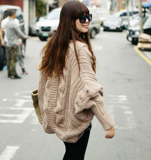 Gros gilet en maille femme laine et tricot - Plaid grosse maille pas cher ...