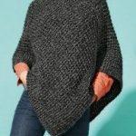 Modèle poncho tricot femme gratuit