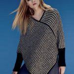 Modele tricot poncho capuche femme