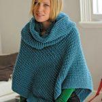 Modele de poncho a tricoter pour femme gratuit