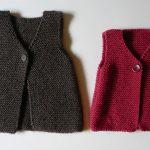 Comment tricoter un gilet bebe