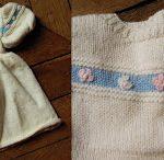Layette bébé tricotée main a faire sois meme