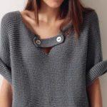 Modele tricot pull femme en coton