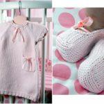 Robe en tricot pour bébé