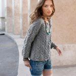 Modèle à tricoter pull femme