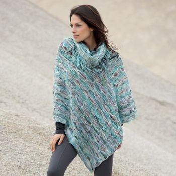poncho modele tricot