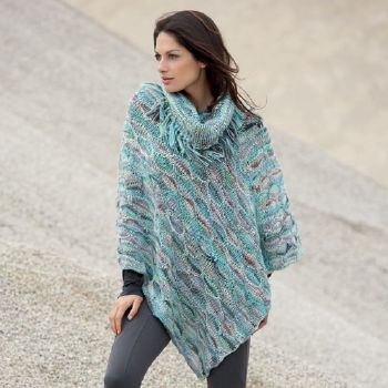 patron de poncho au tricot