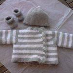 Brassière de laine bébé naissance