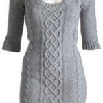 Robe tricot femme modèle