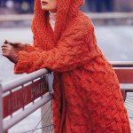 Manteau tricot femme long