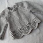 Modèle brassière bébé tricot