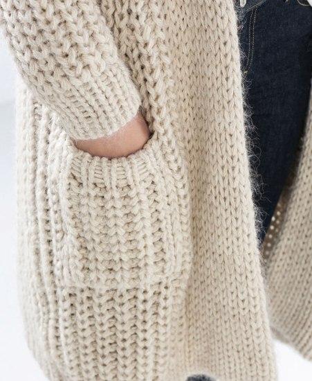 Modele veste tricot grosse laine laine et tricot - Tricot grosse maille ...
