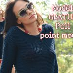 Modele pull point mousse