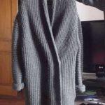 Veste laine grosse maille femme