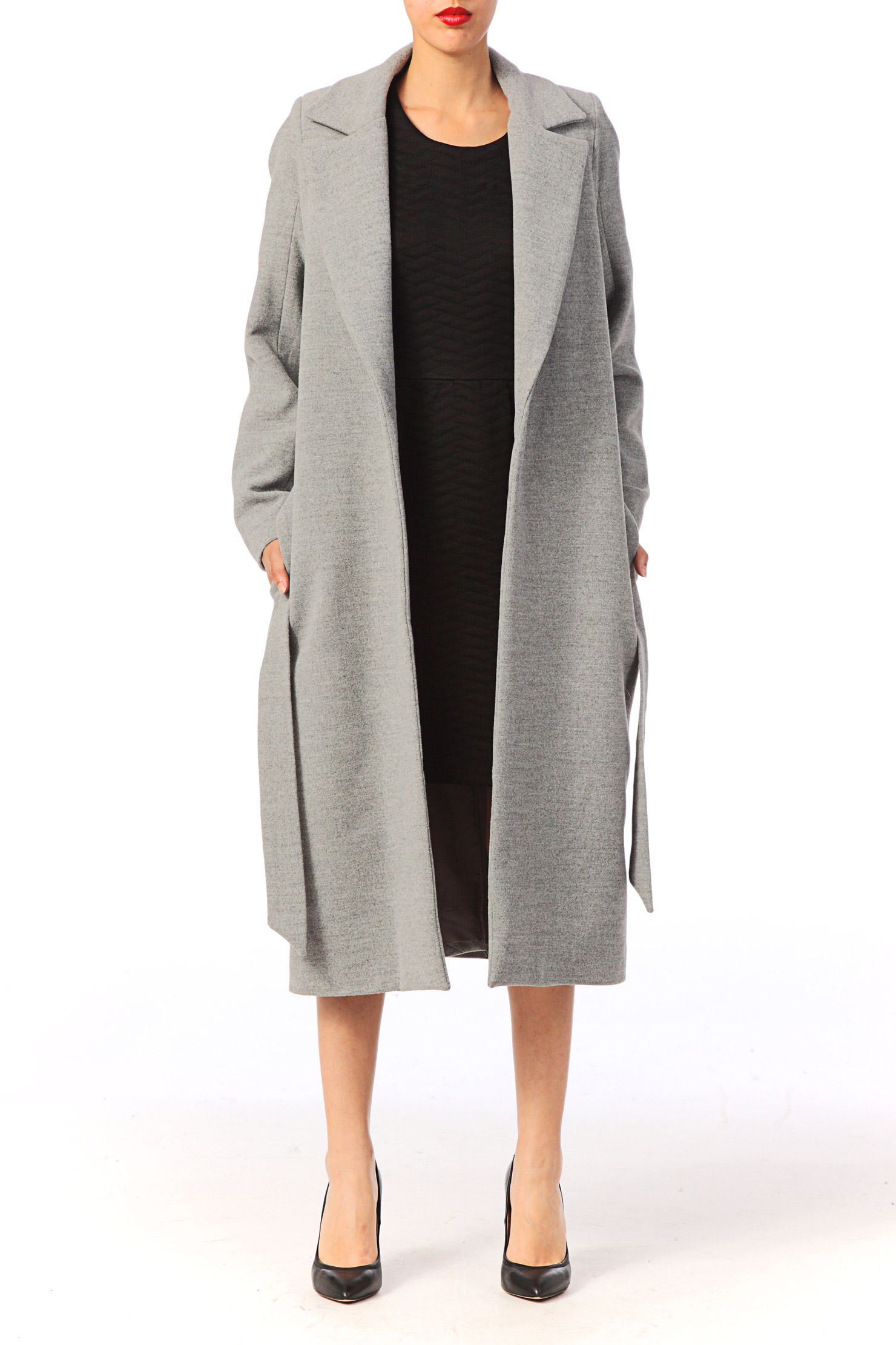 Manteau long pure laine femme