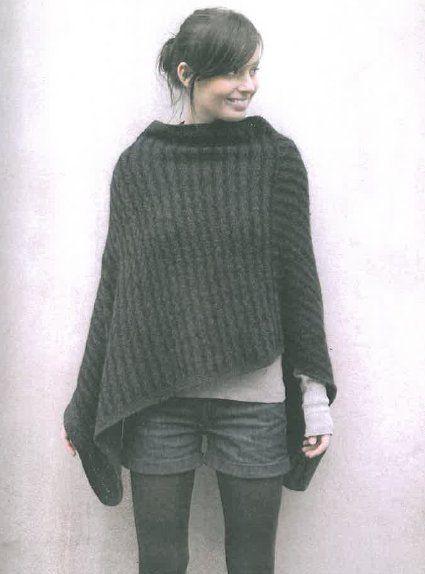 modeles poncho tricot