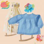 Modèle brassière laine bébé à tricoter