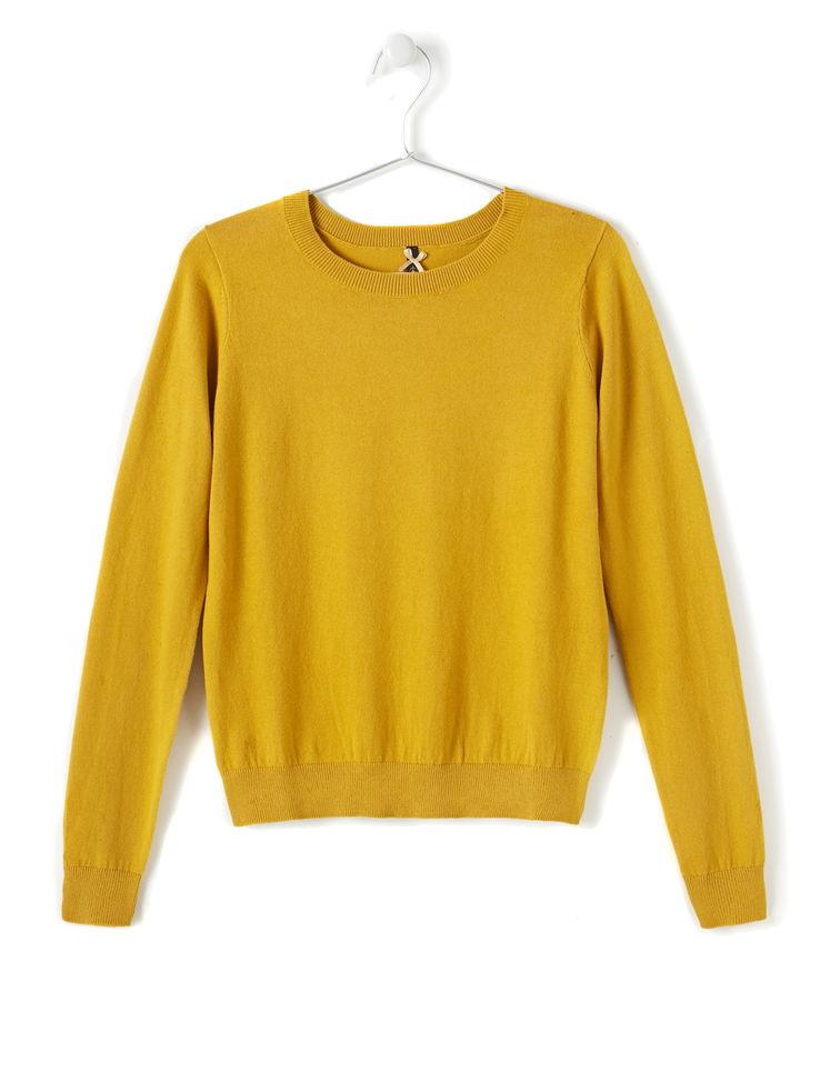 Populaire Pull moutarde femme - Laine et tricot KJ03
