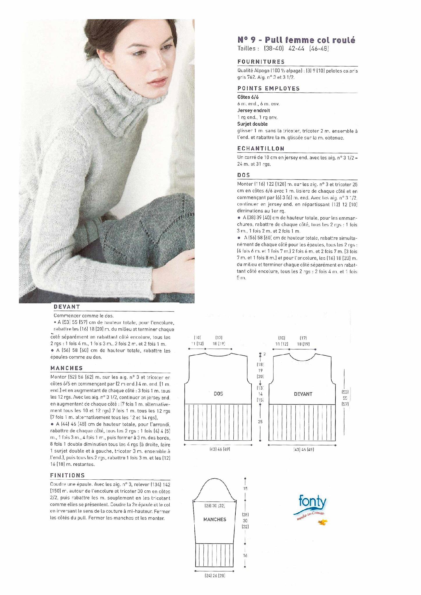 pull a tricoter modele gratuit laine et tricot. Black Bedroom Furniture Sets. Home Design Ideas