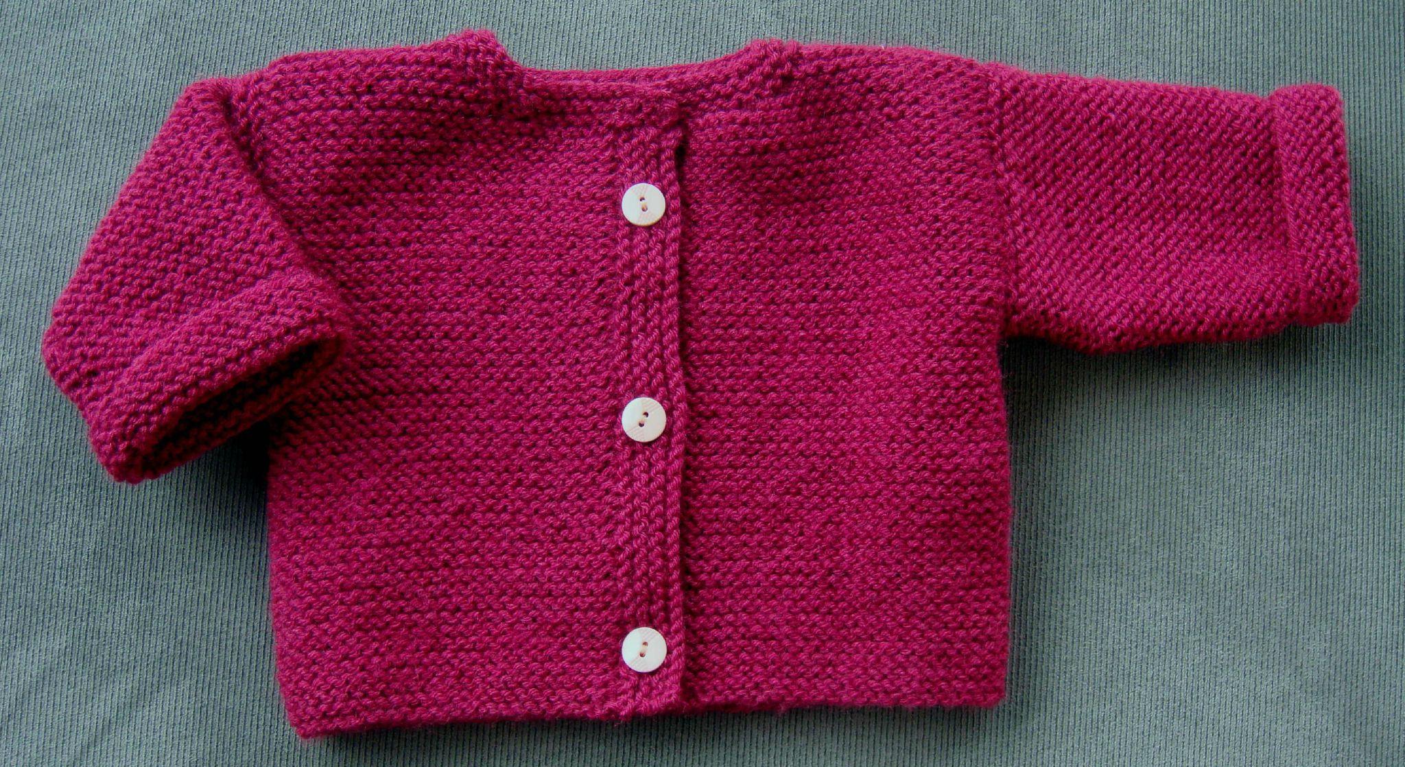 gilet facile a tricoter pour bebe laine et tricot. Black Bedroom Furniture Sets. Home Design Ideas
