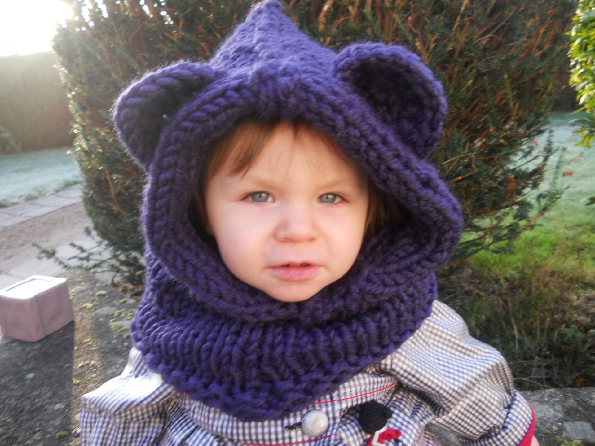 modele tricot snood capuche gratuit