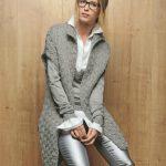 Modele veste longue femme a tricoter