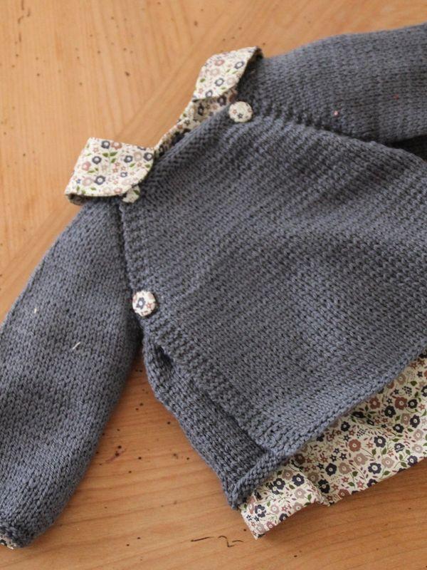 brassi re pour b b tricoter laine et tricot. Black Bedroom Furniture Sets. Home Design Ideas
