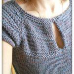 Modèle tricot pull femme manches courtes