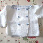 Brassière bébé a tricoter explication