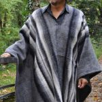 Poncho laine homme