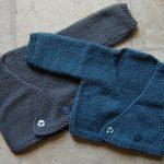 Gilet cache coeur bébé tricot