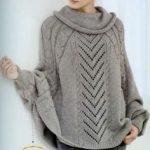 Modele poncho femme a tricoter