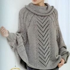 modele tricot poncho facile gratuit