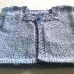 Tricoter un gilet pour bébé facile