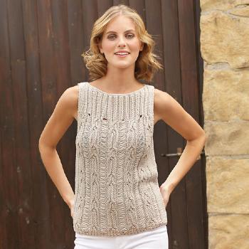 modele gratuit debardeur tricot coton