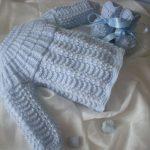 Tricoter brassière bébé laine