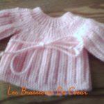 Tricoter une brassiere bebe facile
