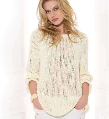 modele pull coton femme tricot