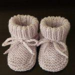 Modele chausson bébé tricot