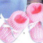 Modèle de chausson bébé à tricoter