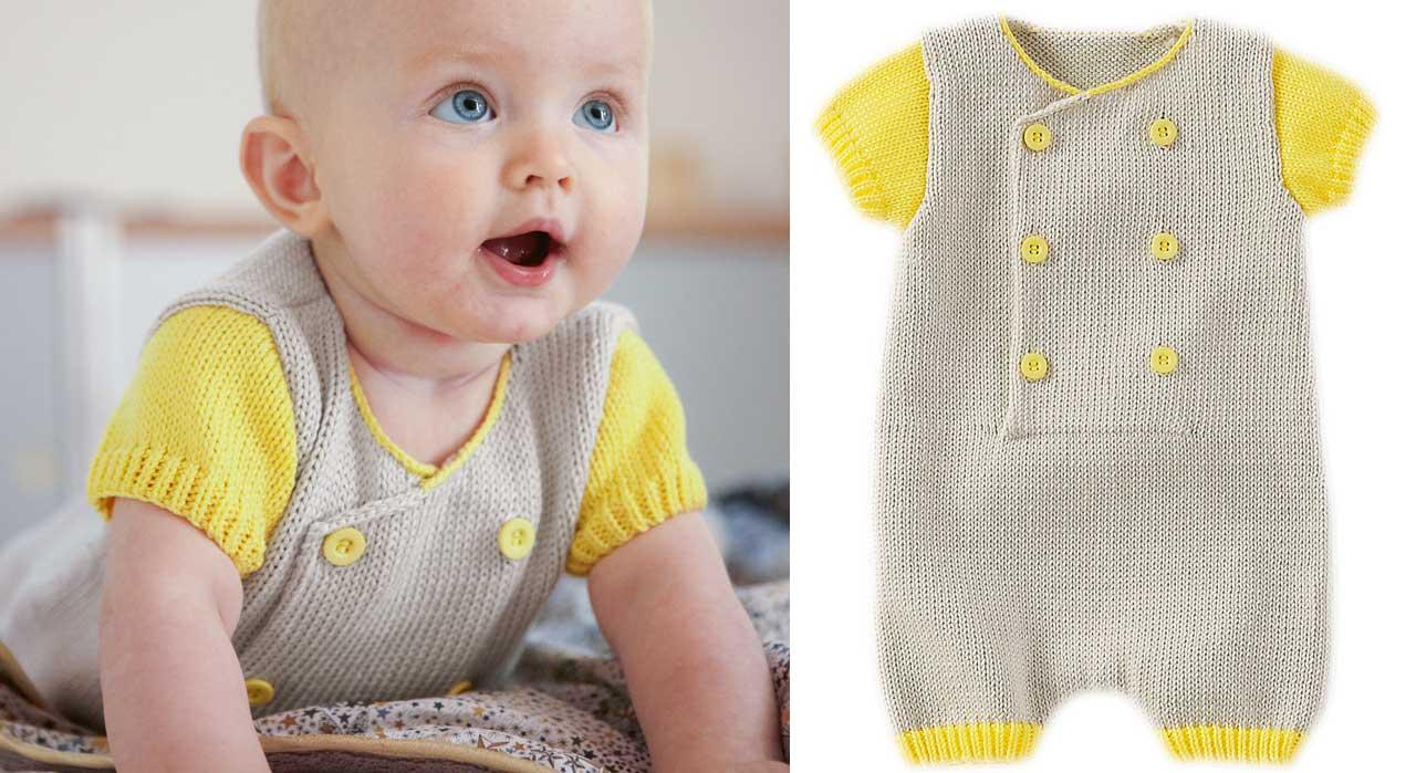 1399e1abfc4 Modèle tricot pour bébé gratuit - Laine et tricot