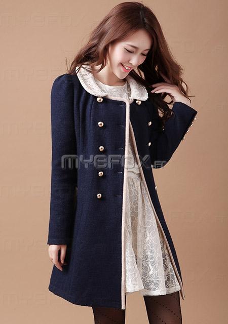 manteau laine cintr femme laine et tricot. Black Bedroom Furniture Sets. Home Design Ideas